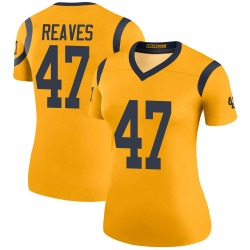 Nike Greg Reaves Los Angeles Rams Women's Legend Gold Color Rush Jersey