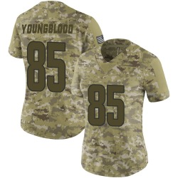 Nike Jack Youngblood Los Angeles Rams Women's Limited Camo 2018 Salute to Service Jersey