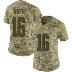 Nike Jared Goff Los Angeles Rams Women's Limited Camo 2018 Salute to Service Jersey