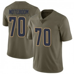 Nike Joseph Noteboom Los Angeles Rams Youth Limited Green 2017 Salute to Service Jersey