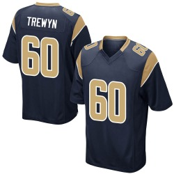 Nike Nate Trewyn Los Angeles Rams Youth Game Navy Team Color Jersey
