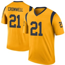 Nike Nolan Cromwell Los Angeles Rams Youth Legend Gold Color Rush Jersey
