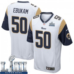Nike Samson Ebukam Los Angeles Rams Youth Game White Super Bowl LIII Bound Jersey